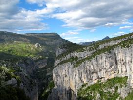 Gole del Verdon: panorama verso Rougon